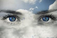 Composite Image Of Blue Eyes O...