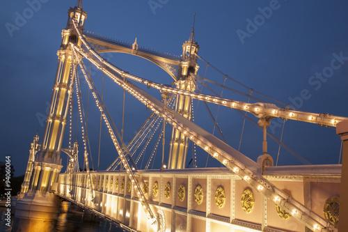 Photo  Albert Bridge; Chelsea; London
