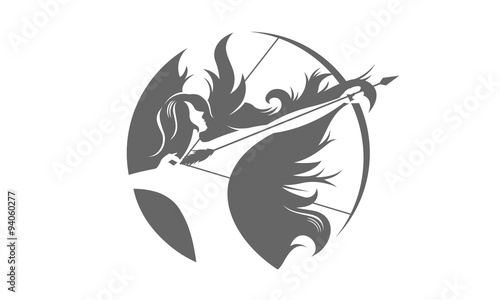 Photo female archer