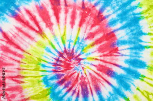 Fotografie, Obraz  close up shot of spiral tie dye fabric texture background