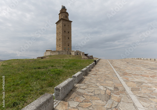 Fortification Roman lighthouse in A Coruna, Spain. A World Heritage Site