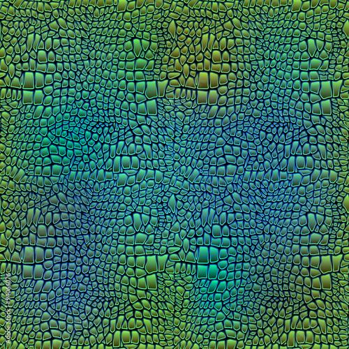 Photographie  Vector illustration of alligator skin seamless crocodile