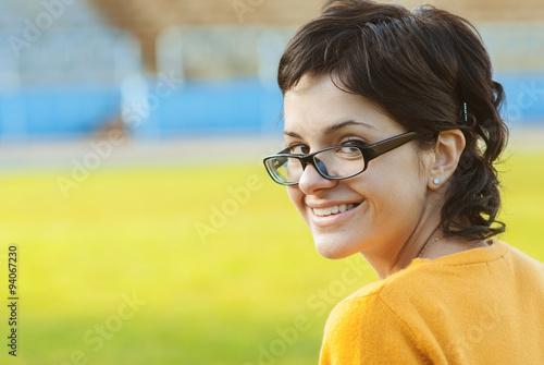 Fotografia, Obraz  Dark-haired girl in glasses