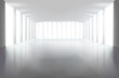 Empty large hall. Vector illustration.