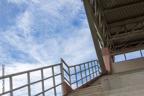 Spoed Foto op Canvas Stadion Stadium roof