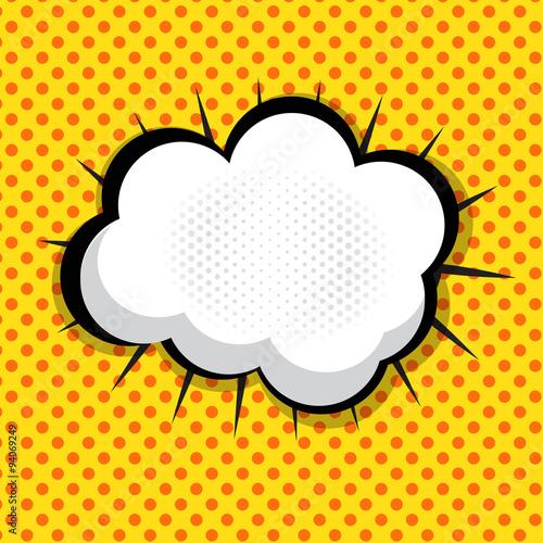 Photo  Speech Bubble Pop Art Background On Dot Background Vector Illust