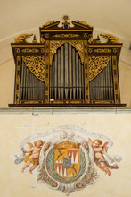 Organ Pipes And Decoration In The 19th Century Assumption Of Mary Church On Bled Island, Slovenia