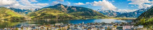 Fotografie, Obraz  Mountain landscape with Zeller Lake in Zell am See, Austria