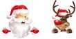 santa and rudolph banner bottom