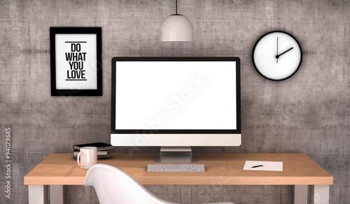 workspace computer blank