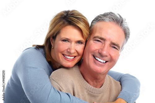 Happy smiling elderly couple. #94081210