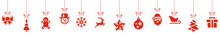 Christmas Hanging Dekoration Background Elements Panorama