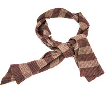 Brown Knit Scarf Isolated