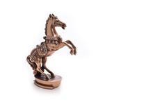 Bronze Horse Figurine On A Whi...