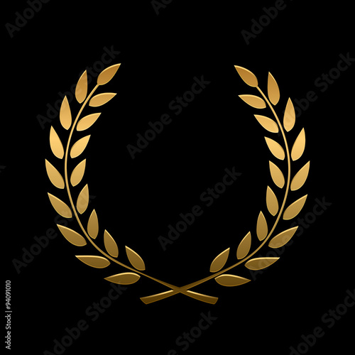 Photo  Vector gold award laurel wreath