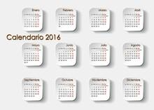 Planning Calendar 2016 In Spanish
