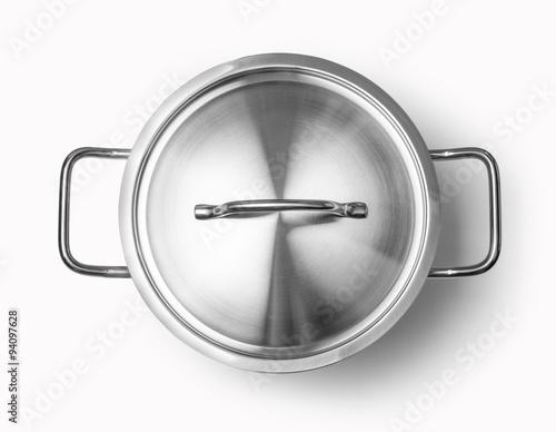 Foto op Plexiglas Koken top view of cooking pan