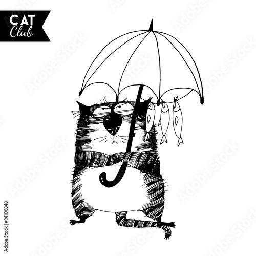 funny cat  character vector cat club #94100848