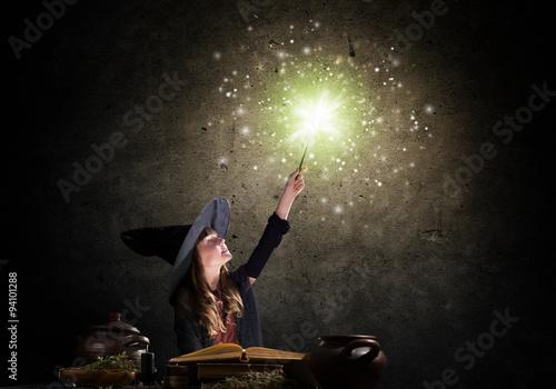 Vászonkép Little witch