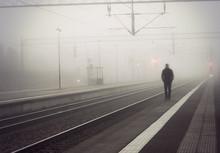 Man On Train Platform