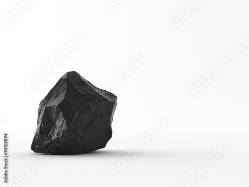 Handful of coal on white background Wallpaper Mural