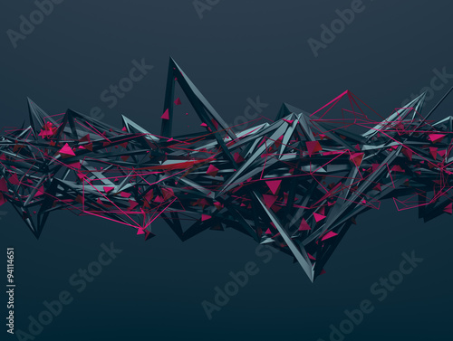 Abstract 3D Rendering of Chaotic Structure. - 94114651