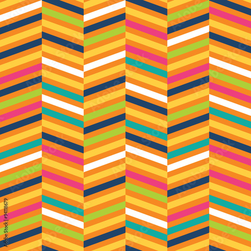 Fotobehang ZigZag Seamless Chevron with colorful suitable for gift wrap or wallpaper background . EPS 10 & HI-RES JPG Included