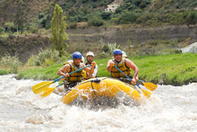 Rafting Water White Sports Instructor Team River Extreme Partnership Of Powerful Teenage Human On A Rafting Boat Patate Creek Ecuador Shoot From Water Position Rafting Water White Sports Instructor T