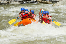 Rafting Whitewater White Team Water White Water Rafting Team In Shiny Sunshine Pastaza Flow Ecuador Sangay National Park Rafting Whitewater White Team Water Float Race Volcanic Holiday Flow Rapid Nat