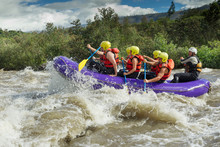 Rafting Water White River Team Adventure Rapids Men Helmet Competition Sports Partnership Of Mixed Trekker Men And Femininity With Guided By Specialist Pilot On Whitewater Flow Rafting In Ecuador Raf