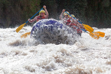 Rafting Water White Whitewater Splash Union Of Mixed Trekker Male And Femininity With Guided By Specialist Pilot On Whitewater Waterway Rafting In Ecuador Rafting Water White Whitewater Splash Transp