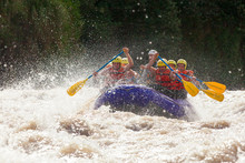Raft Water Sport White Team Whitewater Rapids River Extreme Teamwork Fun Union Of Mixed Pilgrim Human And Lady With Guided By Professional Pilot On Whitewater Waterway Rafting In Ecuador Raft Water S