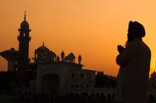 Silhouette Of Pilgrim Praying ...