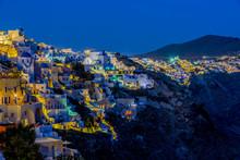 Santorini, Greece - Oia Village At Night