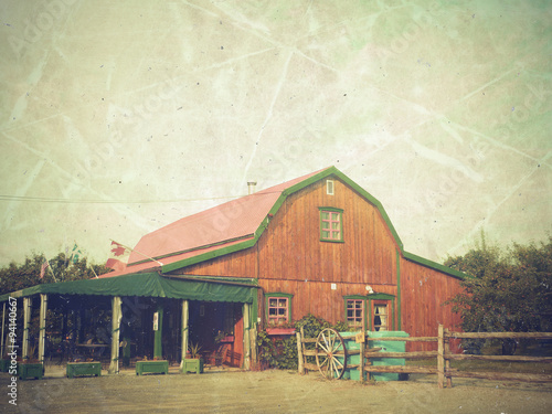 photo vintage d\'une maison au canada - Buy this stock photo and ...
