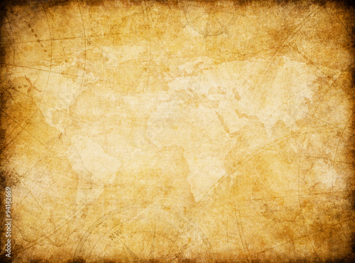 vintage world map background stylization