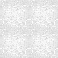 Naklejka Popularne White festive seamless pattern