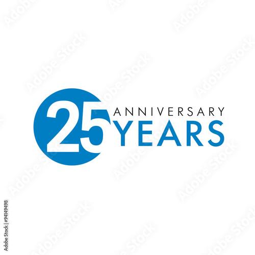 Poster  25 years logo