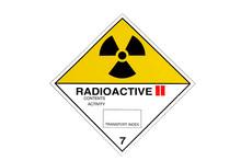 Warning Sign For Radioactive Materials