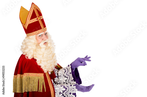 ecadc814517aa Sinterklaas holding something on white background - Buy this stock ...