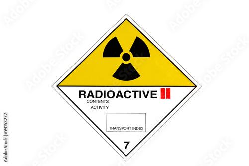 Obraz na płótnie Warning sign for radioactive materials