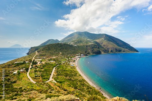 A stunning view on Filicudi island seashore, Sicily, Italy. Canvas Print