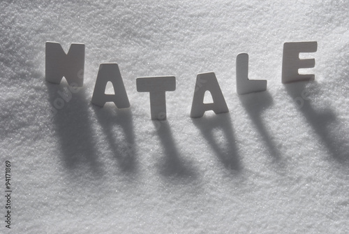 white word natale mean christmas on snow - What Does The Word Christmas Mean