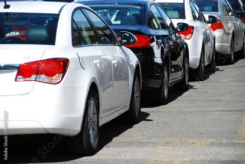 Plakaty parking z samochodami
