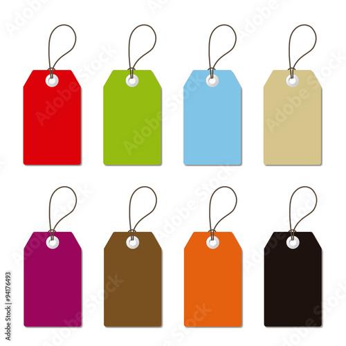 Fotografia  Etiquetas rectangulares para precios