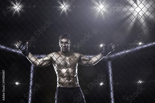 Obrazy MMA   fighter-in-mma-cage-arena