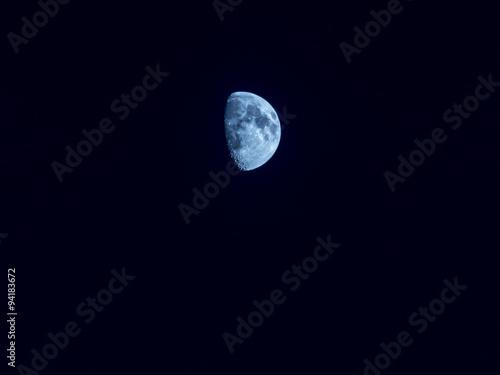 luna cuarto creciente azul - Buy this stock photo and explore ...