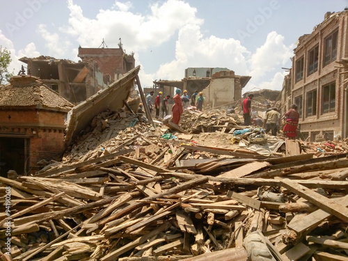 Fotografie, Obraz  Nepal Earthquake 2015