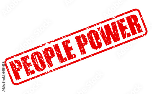 PEOPLE POWER red stamp text Tablou Canvas