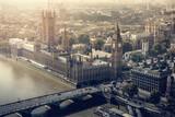 Fototapeta Londyn - London city aerial view